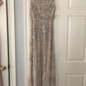 Aidan Mattox Dresses - Blush long sequin dress